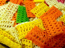 Colourful noodles royalty free stock photography