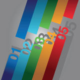 Colourful number background Royalty Free Stock Images
