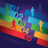 Colourful number background Royalty Free Stock Photography