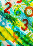 Colourful numbers as background Royalty Free Stock Photography
