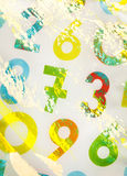 Colourful numbers as background Stock Image