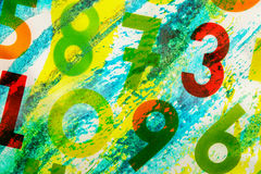 Colourful numbers as background Royalty Free Stock Images