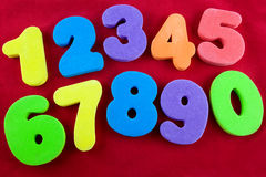 Colourful numbers stock photos