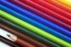 Colourful ołówki Zdjęcia Stock