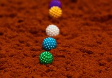 Colourful Objects Round Shape Stock Photograph royalty free stock images