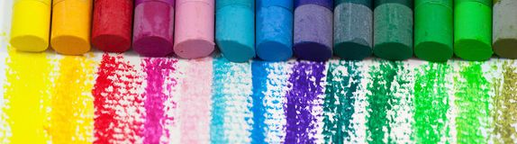 Colourful Oil Pastels  Royalty Free Stock Images