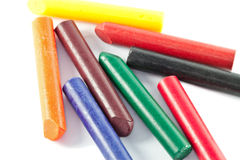 Oil Pastels. Colourful Oil Pastels also called wax oil crayon Royalty Free Stock Photos