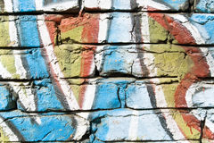 Colourful old brick wall background Royalty Free Stock Images