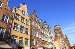 Colourful old buildings in City of Gdansk, Poland Royalty Free Stock Photography