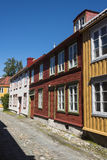 Colourful old wooden residential houses Royalty Free Stock Photo