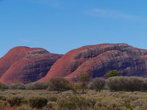 The colourful Olgas in the red desert Stock Images