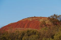 The colourful Olgas in the red desert Royalty Free Stock Images