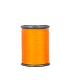 Colourful orange thread isolated on white. Background Stock Photo