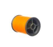 Colourful orange thread isolated on white. Background Royalty Free Stock Photo