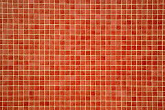 Colourful orangey-red mosaic tiles Royalty Free Stock Images
