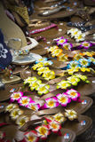 Colourful orchard flower slipper. Is one of the famous souvenir in Bali, Indonesia royalty free stock photo