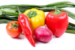 Colourful organic vegetables Royalty Free Stock Images