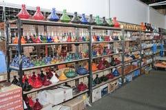 Colourful ornamentacyjni przedmioty przy Abu Dhabi Międzynarodowym polowaniem 2013 i Equestrian wystawą fotografia stock