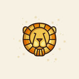 Colourful outline icon of a lion Royalty Free Stock Image