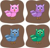Colourful owls Royalty Free Stock Photo