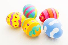 Colourful painted easter egg Stock Images