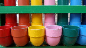Colourful painted pipe Royalty Free Stock Images