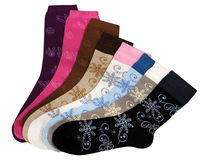 Colourful pairs of socks Stock Photo