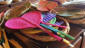 Colourful palm leaves fan Royalty Free Stock Images