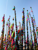 Colourful palms - Easter biblical tradition. Every year in the small town of Lipnica (Krakow region, Poland) around the monument of St.Simon is organized the Stock Images