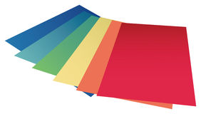 Colourful paper Stock Photography