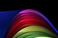 Colourful paper arches stock images