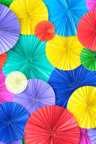 Colourful Paper background. In the big garden stock images
