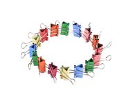 Colourful paper clips arranged into circle. Stock Image