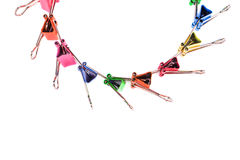 Colourful paper clips Royalty Free Stock Photo