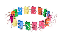 Colourful paper clips Royalty Free Stock Photos