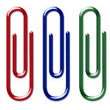 Colourful Paper Clips Stock Photo