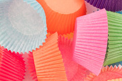 Colourful Paper Cupcake Cases Royalty Free Stock Images