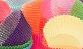 Colourful Paper Cupcake Cases. Royalty Free Stock Photos