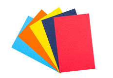 Colourful paper. Isolated on white Stock Image