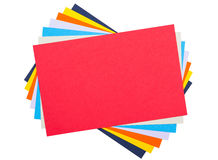 Colourful paper. Isolated on white royalty free stock photography