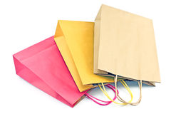 Colourful paper shopping bags Royalty Free Stock Photo