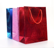 Colourful paper shopping bags Stock Image
