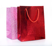 Colourful paper shopping bags Stock Photo