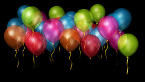 Colourful part balloons Royalty Free Stock Photos
