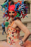 Colourful participant of Gay and Lesbian Pride Parade Royalty Free Stock Images