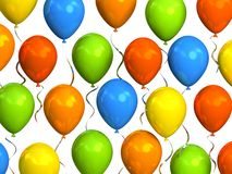 Colourful party balloons Stock Images