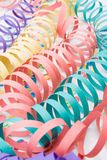 Colourful party paper ribbons and confetti Stock Photo