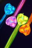 Colourful Party Picks  Stock Photography