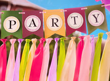 Colourful party swag banner Royalty Free Stock Photography