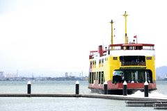 Colourful Passenger & Car Ferry Royalty Free Stock Photography